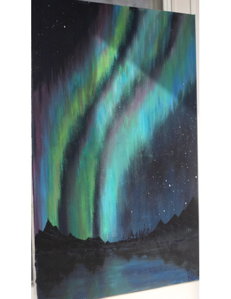 Aurora Borealis - Acrilic pe Panza