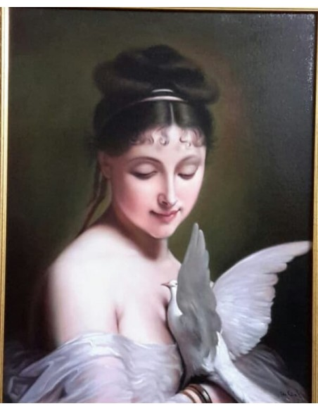Femeia cu porumbel