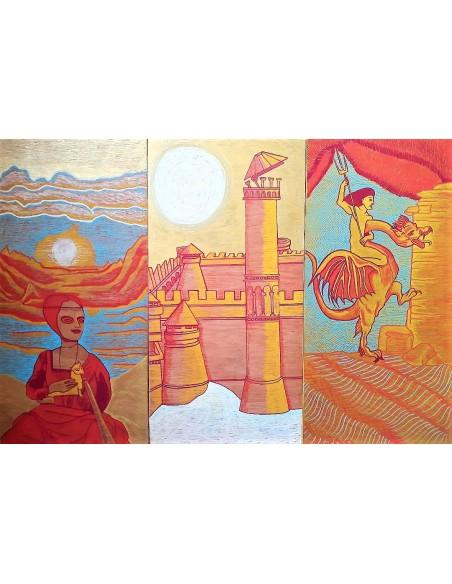 Landscape with Woman-Ansamblu