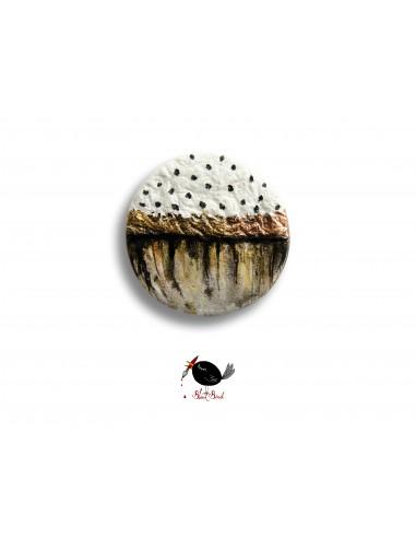 Broșă unicat - cu buline
