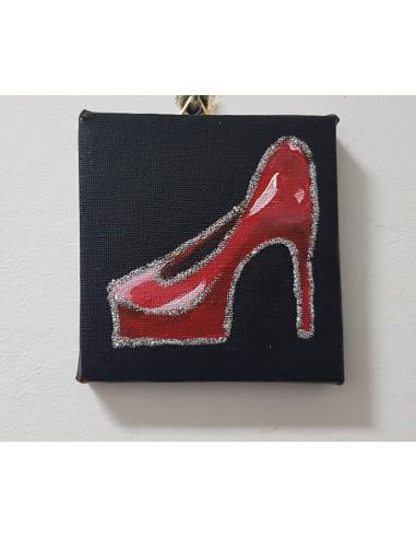 """Pantoful""Tablou acrilic 10/10 cm"