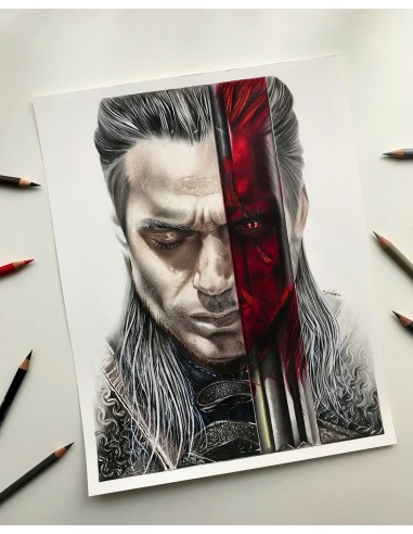 The Witcher Colored Pencil Drawing