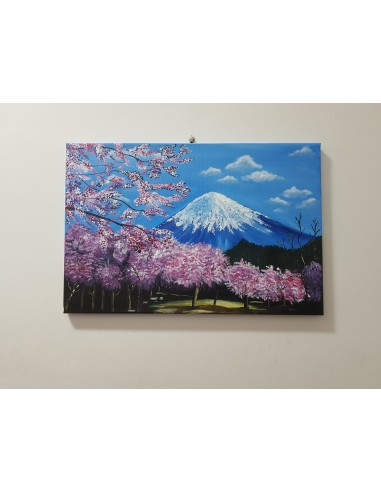 """Tablou """"Primavara"""", pictat in acrilic 60/40 cm."""