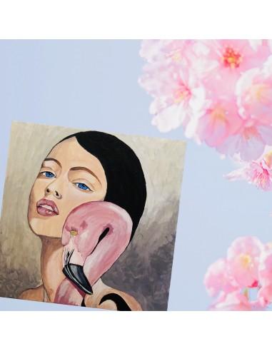 Flamingo girl