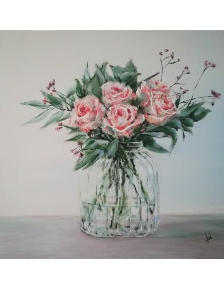 Borcan cu trandafiri