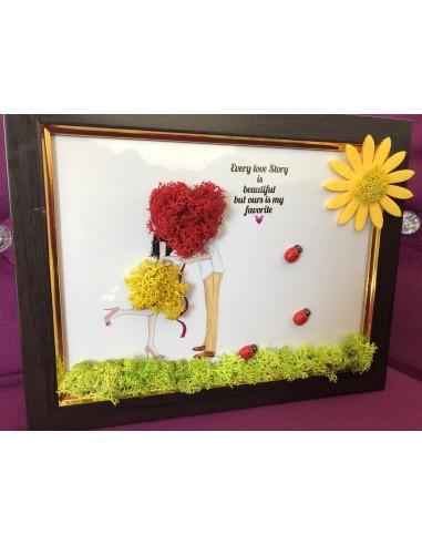 Tablou din licheni - cadoul perfect pentru persoana iubita