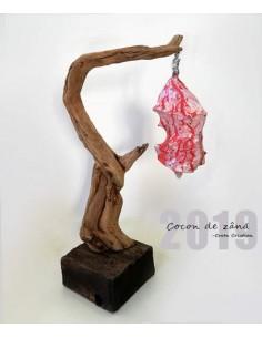 """Sculptura lemn """"Cocon de zână"""""""