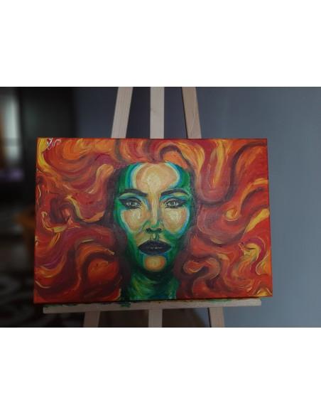Fata verde cu parul foc