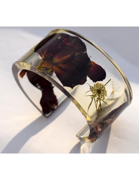 """""""Dark Rose"""" - Bratara Open Cuff"""
