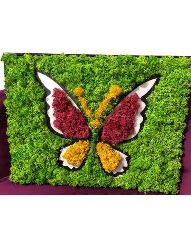 Tablou din licheni: fluture