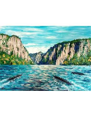 Tablou Canotaj pe Cazanele Dunarii