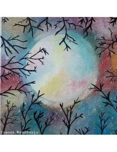 Luna Plină Printre Copacii Neînfloriți
