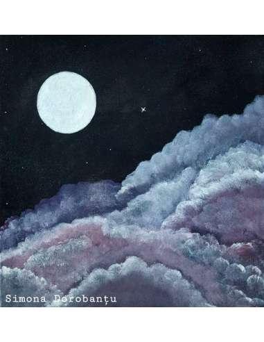 Luna si norii din vată pe băț