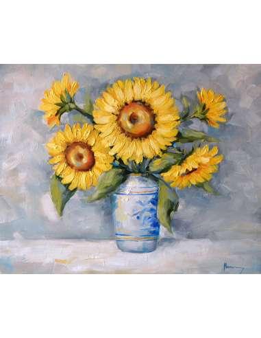 Vaza cu floarea soarelui