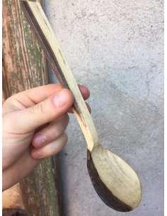 Lingură mică din lemn de nuc