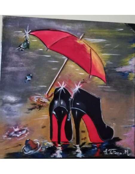 Doamna cu umbrela