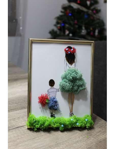 Tablou: Mama și fiul