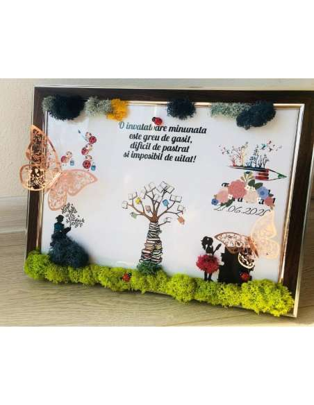 Tablou din licheni: Copacul vietii