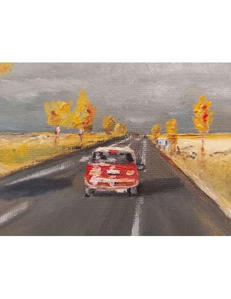 E85 în prag de furtună toamna detaliu pictura