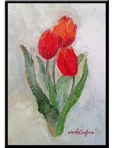 Tablou lalele rosii