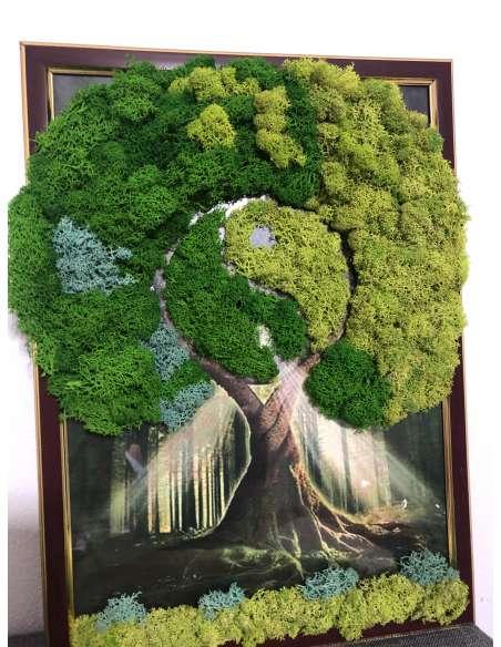 Tablou din licheni: Copacul vieții