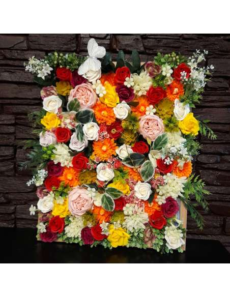 Tablou floral cu led