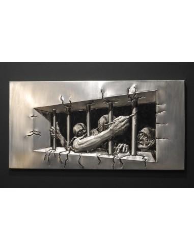 Libertate - tablou metaloplastie